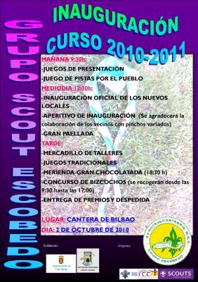 El Grupo Scout Escobedo inicia el nuevo curso con la inauguración de los nuevos locales de la Cantera de Bilbao